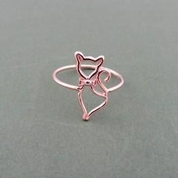 anello gatto oro rosa