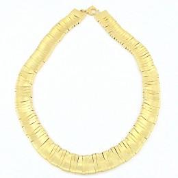 collana elementi dorati sabbiati