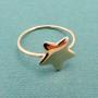 anello stella oro